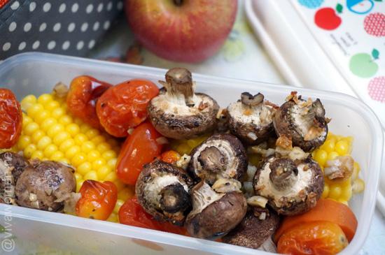 mushroom-corn-lunchbox
