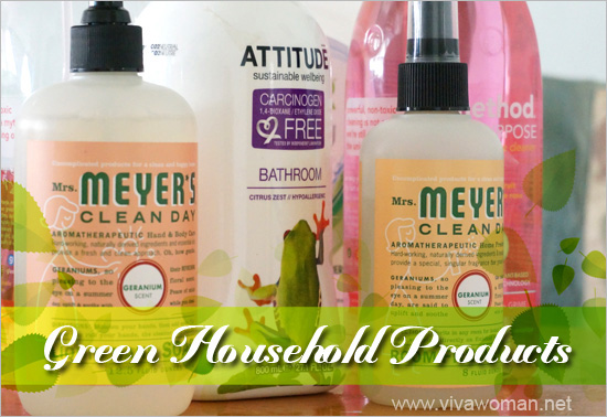 Green household products to battle daily dirt and grime