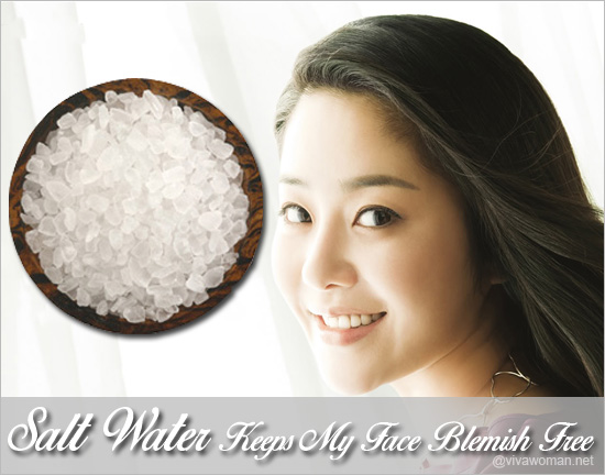 Korean Actress Go Hyun Jung uses salt water for acne