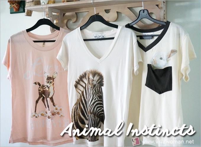 Whimsical Animal Motif Tees
