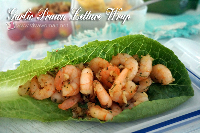 Garlic Prawn Lettuce Wrap