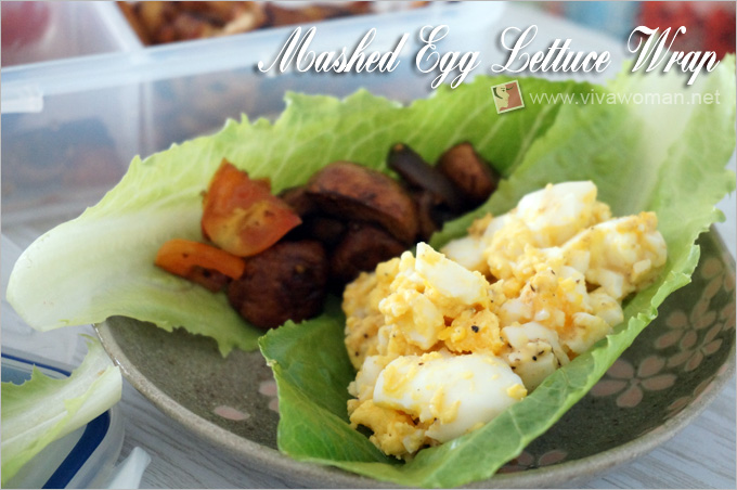 Mashed Egg Lettuce Wrap