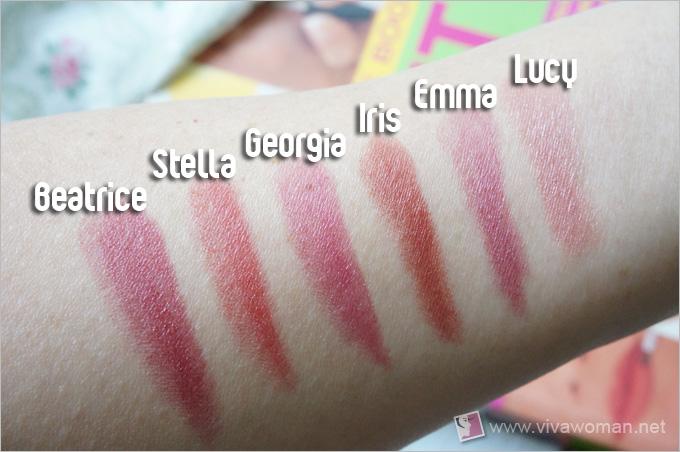 Alima Pure Velvet Lipstick Swatches