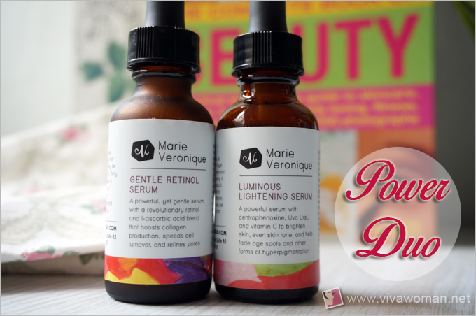 Marie Veronique Advanced Luminonus Lightening Serum And Gentle Retinol Serum