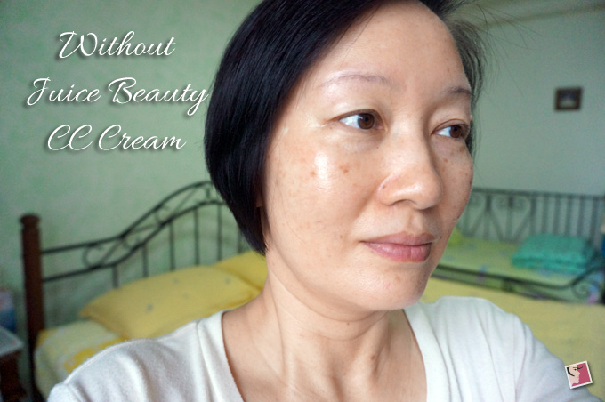Juice Beauty Stem Cellular CC Cream FOTD Before