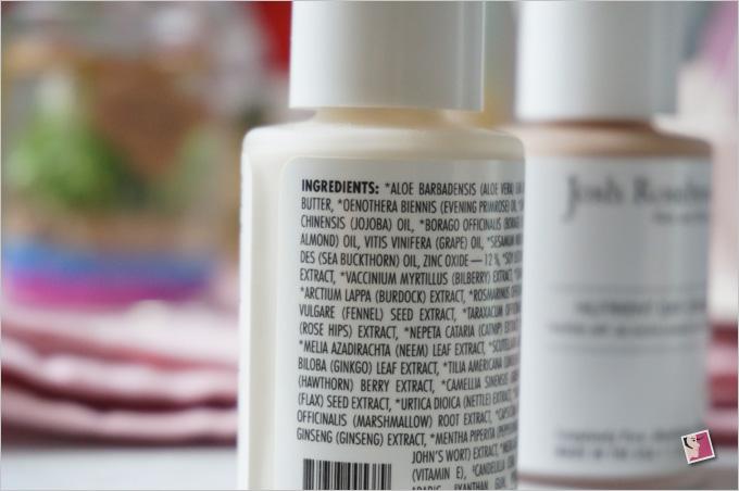 Josh Rosebrook Nutrient Day Cream SPF30 Ingredients