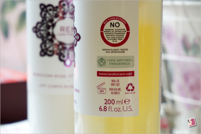 REN Moroccan Rose Otto Body Wash Ingredients