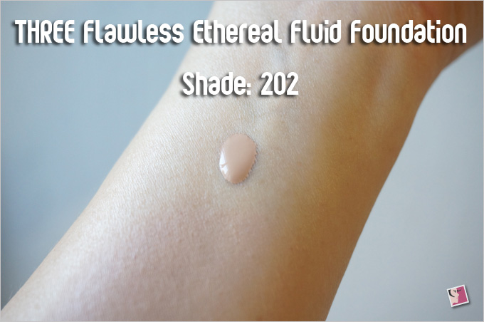 THREE Flawless Ethereal Fluid Foundation 202 Swatch